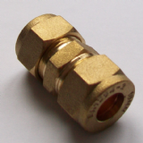 Brass Compression Straight Microbore Connector 10mm - 24401000